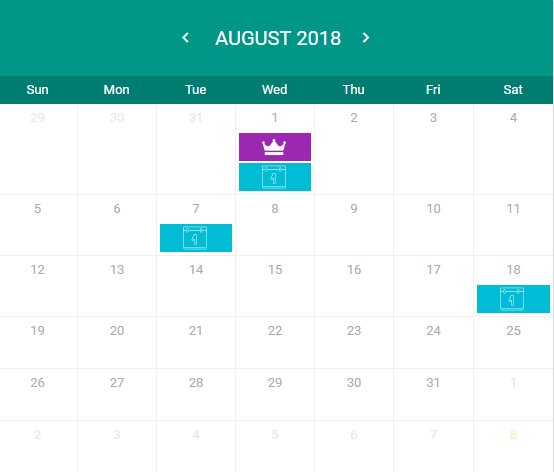 organise your tasks with calender